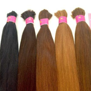 bulk hair, colored bulk hair, brown bulk hair