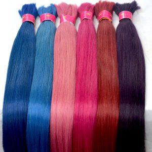colored bulk hair, bulk hair, colored hair, virgin hair, super double drawn hair, indian hair, indian hair manufacturer, indian hair factory
