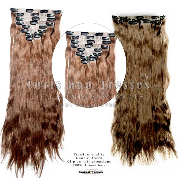 seamless clip on hair extensions, clip on hair extensions, clip extensions, human hair extensions