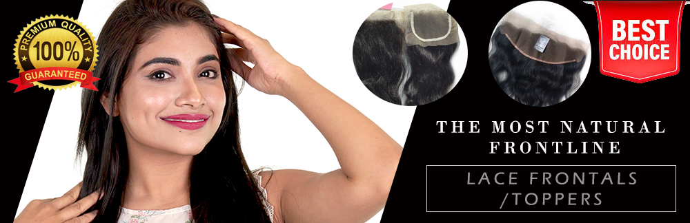 Lace closures, lace frontals, ladies toppers, toppers