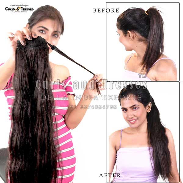 ponytail hair extensions, human hair ponytail extensions, ponytail hair extensions in india, ponytail human hair extensions, ponytail hair extensions in kolkata , Clip on hair extensions in india, seamless clip on hair extensions, hair extensions in india, virgin hair extensions in india, virgin hair extensions, virgin hair extensions in kolkata, human hair extensions in india, human hair extensions in kolkata, human hair extensions, hair extensions manufacturer in india, hair extension brands in india