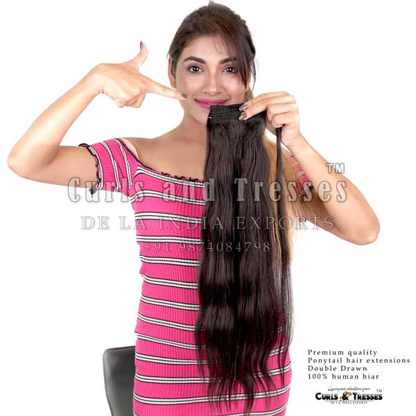 Ponytail hair extensions in india, ponytail hair extensions in kolkata, ponytail hair extensions, natural hair ponytail extensions, raw hair ponytail extensions, Clip on hair extensions in india, seamless clip on hair extensions, hair extensions in india, virgin hair extensions in india, virgin hair extensions, virgin hair extensions in kolkata, human hair extensions in india, human hair extensions in kolkata, human hair extensions, hair extensions manufacturer in india, hair extension brands in india