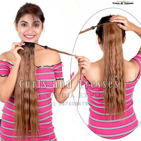 ponytail hair extensions in india, ponytail hair extensions in kolkata, ponytail hair extensions, Clip on hair extensions in india, seamless clip on hair extensions, hair extensions in india, virgin hair extensions in india, virgin hair extensions, virgin hair extensions in kolkata, human hair extensions in india, human hair extensions in kolkata, human hair extensions, hair extensions manufacturer in india, hair extension brands in india
