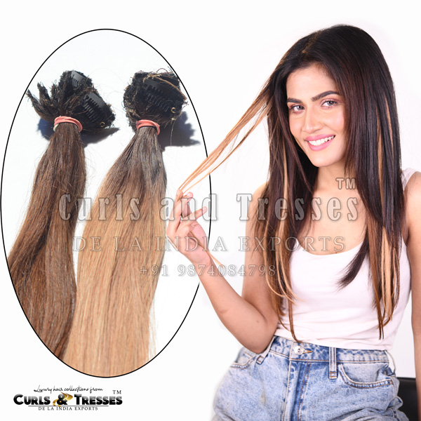 coloured hair extensions in india, colored hair extensions in india, colored hair extensions in kolkata, funky colored hair extensions, part wear hair extensions, clip streaks, colored clip streaks