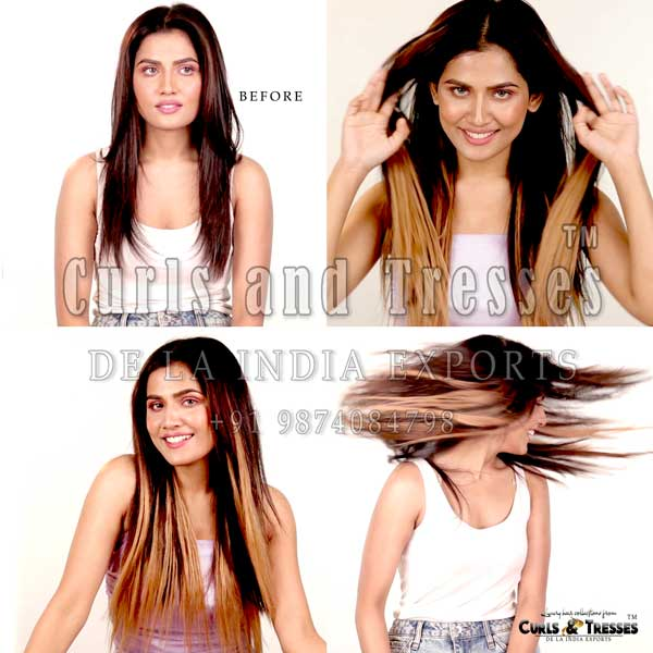 Clip on hair extensions in india, seamless clip on hair extensions, hair extensions in india, virgin hair extensions in india, virgin hair extensions