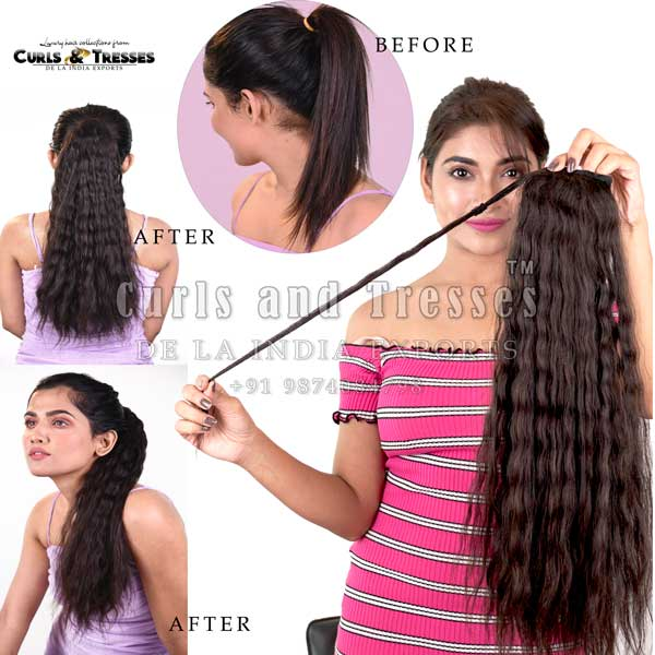 Ponytail hair extensions in kolkata, ponytail hair extensions in india, ponytail hair extensions, curly ponytail hair extensions, Clip on hair extensions in india, seamless clip on hair extensions, hair extensions in india, virgin hair extensions in india, virgin hair extensions, virgin hair extensions in kolkata, human hair extensions in india, human hair extensions in kolkata, human hair extensions, hair extensions manufacturer in india, hair extension brands in india